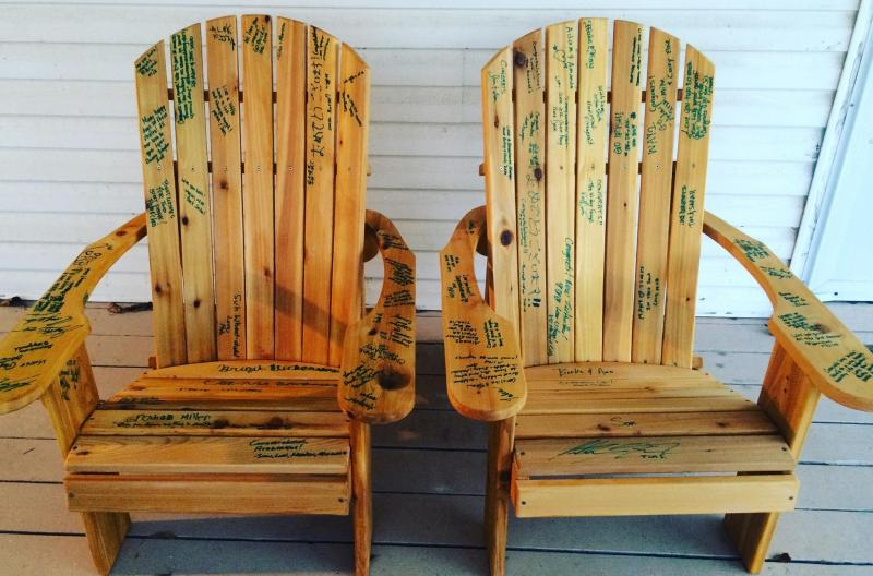 Click To Enlarge Image   Adirondack Chair Wedding Guest Book   A Clever  Keepsake For Wedding